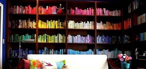 books organized by color   Kaesey