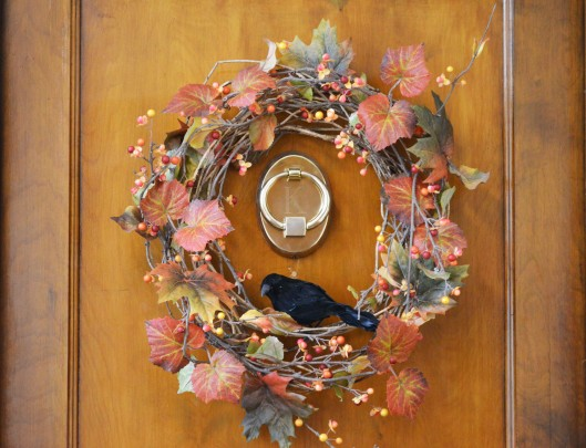 Fall wreath with raven