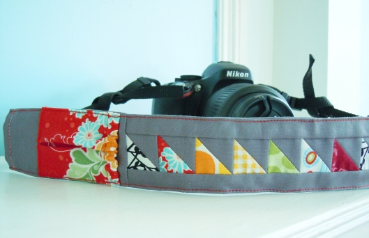 pieced camera strap cover