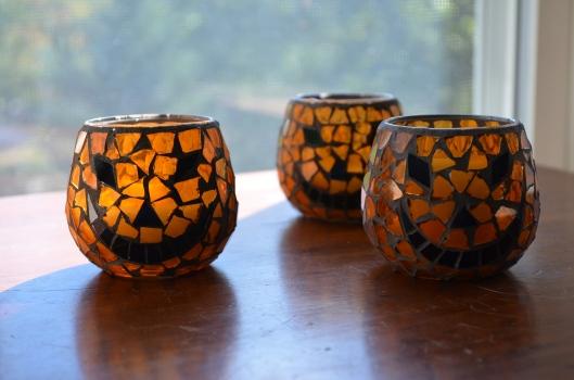 Vintage jack-o-lantern votives