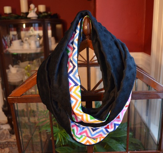 black and chevron infinity scarf