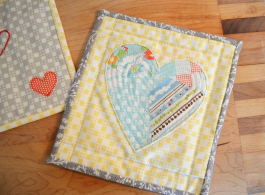 scrappy reverse applique heart
