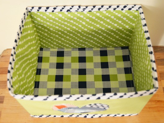 fabric box interior