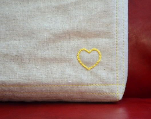heart split stitch