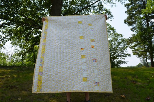 sunshine quilt back