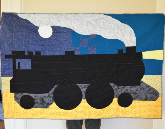 Midnight train quilt 2