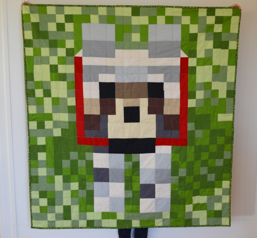 minecraft dog quilt 2