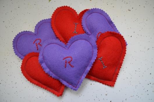 heart bean bags