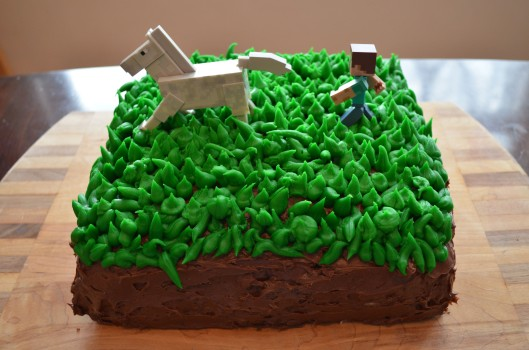 Minecraft grass block cake