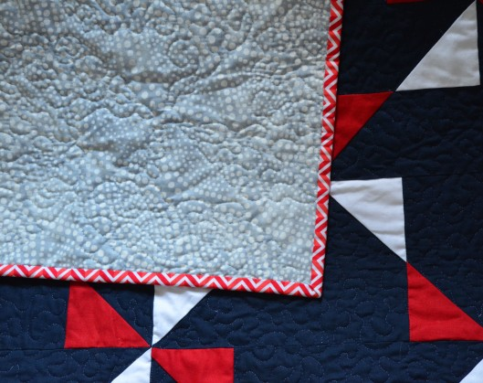 Fourth quilt back detail