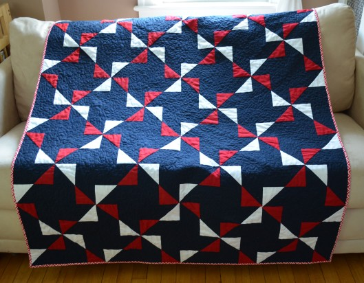 Fourth of July pinwheel quilt
