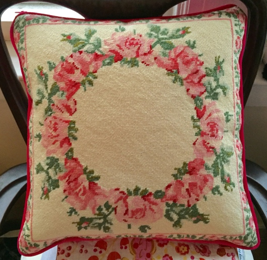 Laura Ashley country roses needlepoint